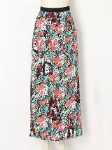 80マイクロモダールサテンフラワ-PTスカート