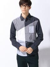 (M)柄クレイジーパターンシャツ