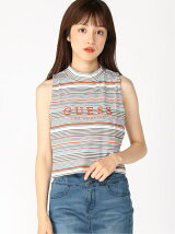 (W)STRIPE MOCK-NECK TANK