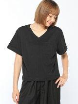 CHILLE裾タック入りショート丈Tシャツ