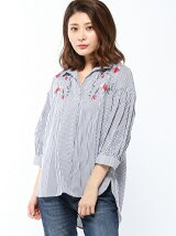 INTERPLANET/綿ローン刺繍スキッパーシ