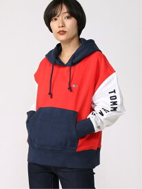 TOMMY JEANS (W)TOMMY HILFIGER(トミーヒルフィガー) カラーブロックパーカー トミーヒルフィガー カットソー パーカー【送料無料】