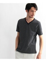 [TALL&LARGEサイズ]ドット柄VネックTシャツ