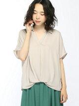 5/19C・裾タックトロミ半袖スキッパー/SH