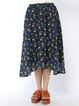小花ブーケ柄テールスカート