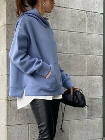 DOUX ARCHIVES ボンディングパーカー*ロングTシャツSET ドゥアルシーヴ ニット アンサンブル ブルー ブラック ベージュ ブラウン【送料無料】