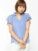 5/26S・ラッフル袖トロミスキッパー/BL