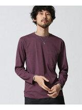 //加工クルーネックTシャツ LS