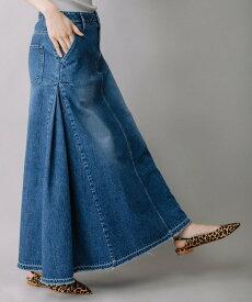 【SALE/30%OFF】Munich 12ozデニムマキシスカート ミューニック スカート ロングスカート ブルー ネイビー【送料無料】