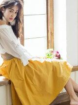 9カラーサッシュ付きスカート