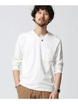 //加工VネックTシャツ LS
