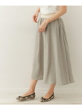 O'NEIL OF DUBLIN Linen Swing Skirt