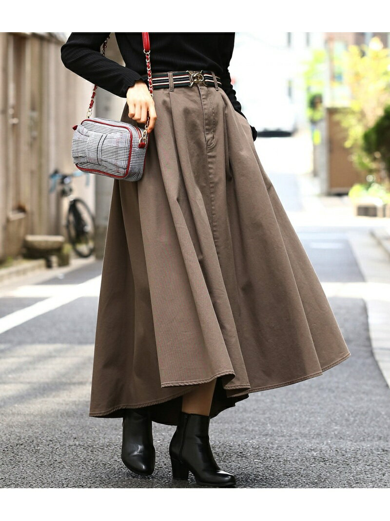 【WEB限定】チノボリュームスカート ビス スカート【送料無料】
