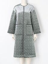 QUILTING VELOURS COAT