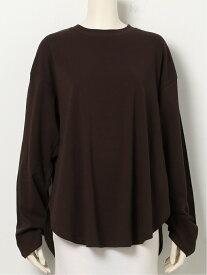 Mila Owen シャツカーブロンT ミラオーウェン カットソー Tシャツ ブラウン ベージュ パープル ホワイト【送料無料】