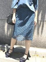 星柄レースタイトスカート