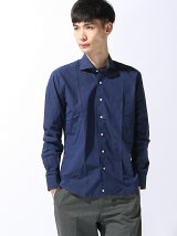 (M)5900円ビジカジシャツ 綿100% ネイビー カッタウェイ