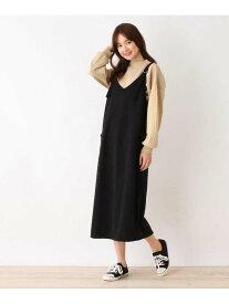 【SALE/40%OFF】SHOO・LA・RUE Dリングハイゲージジャンパースカート シューラルー スカート ジャンパースカート ブラック カーキ ベージュ