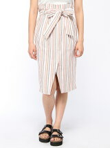 【Dukkah】(L)マルチストライプラップ風スカート