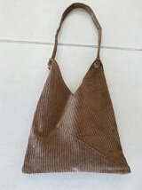 Corduroy Triangle Bag