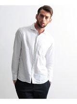 [TALL&LARGEサイズ]綿麻ドビーシャンブレーシャツ