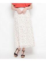 小花柄マキシ丈スカート