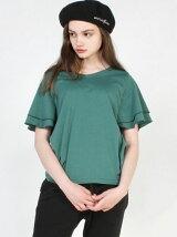 フレアスリーブVネックTシャツ