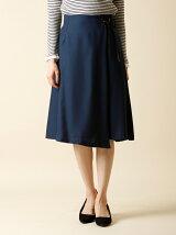 【WEB限定大きいサイズ】サイドレースアップラップ風スカート