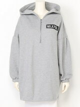 BACK ZIP HOODED TOP