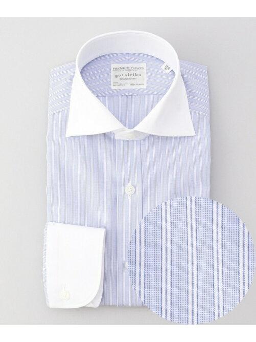 【gotairiku】PREMIUMPLEATSドレスシャツ/クレリックワイドカラーを見る