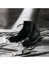 サイドジップ編上ブーツ