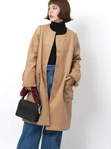 RUFFLE POCKET COAT