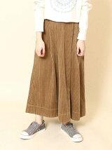 コーデュロイボリュームロングスカート