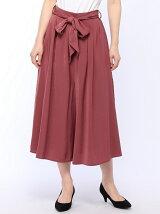 INTERPLANET/【MD】マットサテンリボン付スカーチョ
