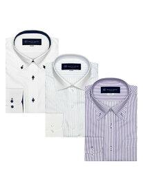 BRICK HOUSE by Tokyo Shirts (M)【WEB限定】形態安定ノーアイロン長袖ビジネスワイシャツ 3枚 Dセット ブリックハウスバイトウキョウシャツ シャツ/ブラウス ワイシャツ パープル【送料無料】