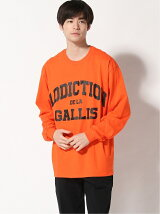 (M)GALLISADDICTION/GA COLLEGE-LOGO L/S TEE