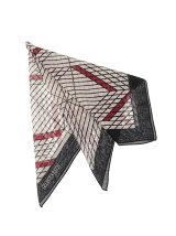 ウールシルクプリントスカーフ