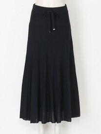 Mila Owen ニットプリーツSK ミラオーウェン スカート プリーツスカート/ギャザースカート ブラック グリーン ベージュ【送料無料】