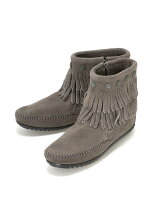 MINNETONKA/(L)DOUBLE FRINGE SIDE ZIP BOOT 691T
