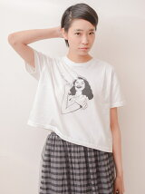 *フェイスプリントショートTシャツ
