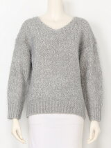 Feather Vneck Knit