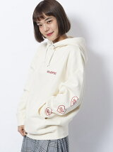 HEART SLEEVE BIG SWEAT HOODIE