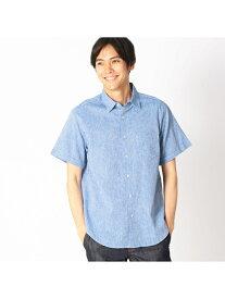 【SALE/50%OFF】COMME CA ISM コットンリネンシャンブレーシャツ コムサイズム シャツ/ブラウス シャツ/ブラウスその他 ブルー ホワイト ネイビー ピンク