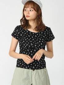 FLORAL BABY TEE エックスガール カットソー【送料無料】