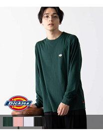 【SALE/36%OFF】WEGO (M)別注ディッキーズワッペン刺繍プリントロンT ウィゴー カットソー Tシャツ グリーン ピンク ブラック ホワイト