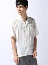 オープンカラー5分袖シャツ