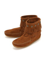 MINNETONKA/(L)DOUBLE FRINGE SIDE ZIP BOOT 692
