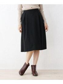 【SALE/33%OFF】grove 【LLあり】ポンチ裏起毛スカート グローブ スカート スカートその他 ブラック グリーン
