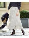 【SALE/20%OFF】le.coeur blanc ビンテージサテンプリーツスカート ルクールブラン スカート プリーツスカート/ギャ…