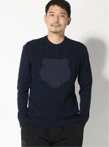 (M)Embossed Tiger Cable Jumper